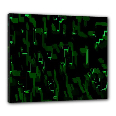 Abstract Art Background Green Canvas 24  x 20