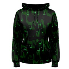 Abstract Art Background Green Women s Pullover Hoodie