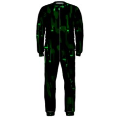 Abstract Art Background Green OnePiece Jumpsuit (Men)