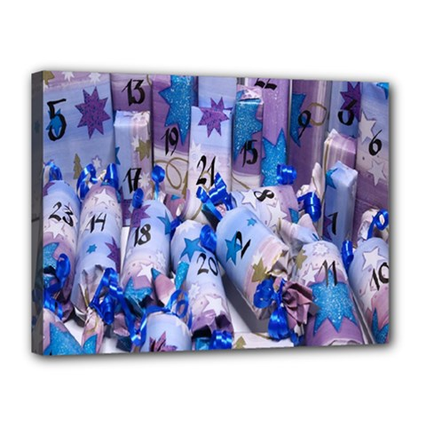 Advent Calendar Gifts Canvas 16  x 12