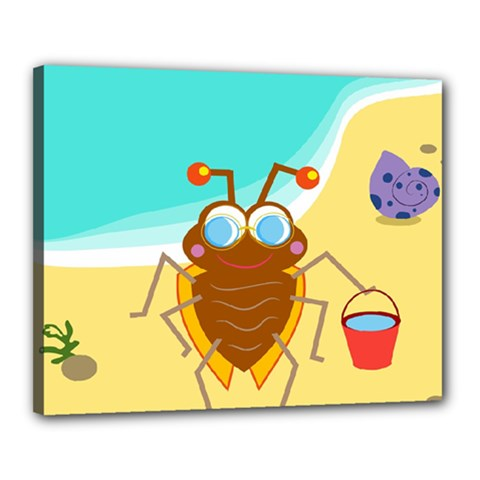 Animal Nature Cartoon Bug Insect Canvas 20  x 16