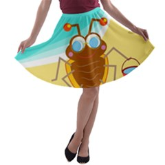 Animal Nature Cartoon Bug Insect A-line Skater Skirt