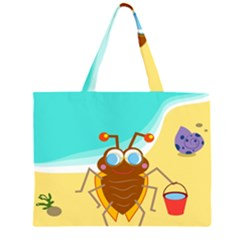 Animal Nature Cartoon Bug Insect Large Tote Bag