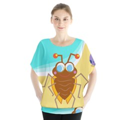 Animal Nature Cartoon Bug Insect Blouse
