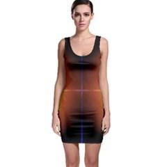 Abstract Painting Sleeveless Bodycon Dress
