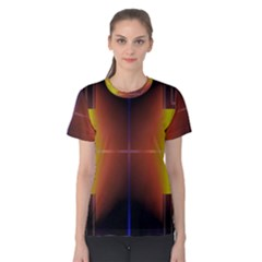 Abstract Painting Women s Cotton Tee