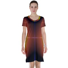 Abstract Painting Short Sleeve Nightdress