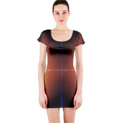 Abstract Painting Short Sleeve Bodycon Dress