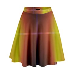 Abstract Painting High Waist Skirt