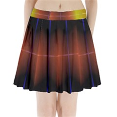 Abstract Painting Pleated Mini Skirt