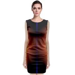 Abstract Painting Sleeveless Velvet Midi Dress