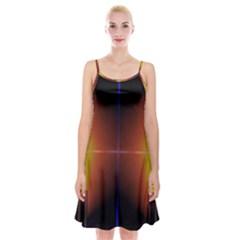 Abstract Painting Spaghetti Strap Velvet Dress