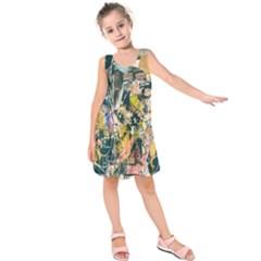 Art Graffiti Abstract Lines Kids  Sleeveless Dress