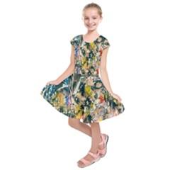 Art Graffiti Abstract Lines Kids  Short Sleeve Dress