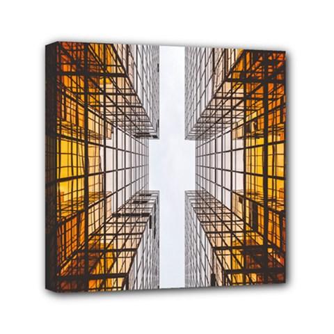 Architecture Facade Buildings Windows Mini Canvas 6  x 6