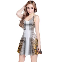Architecture Facade Buildings Windows Reversible Sleeveless Dress