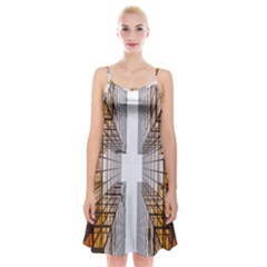 Architecture Facade Buildings Windows Spaghetti Strap Velvet Dress