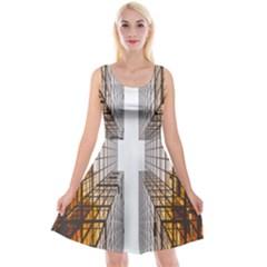 Architecture Facade Buildings Windows Reversible Velvet Sleeveless Dress