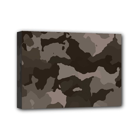 Background For Scrapbooking Or Other Camouflage Patterns Beige And Brown Mini Canvas 7  X 5