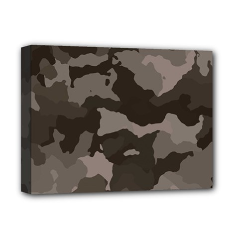 Background For Scrapbooking Or Other Camouflage Patterns Beige And Brown Deluxe Canvas 16  x 12