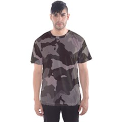 Background For Scrapbooking Or Other Camouflage Patterns Beige And Brown Men s Sport Mesh Tee