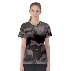 Background For Scrapbooking Or Other Camouflage Patterns Beige And Brown Women s Sport Mesh Tee