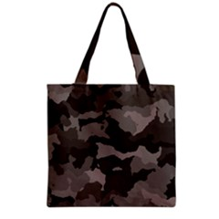 Background For Scrapbooking Or Other Camouflage Patterns Beige And Brown Grocery Tote Bag