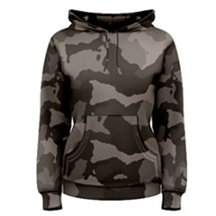 Background For Scrapbooking Or Other Camouflage Patterns Beige And Brown Women s Pullover Hoodie