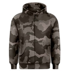 Background For Scrapbooking Or Other Camouflage Patterns Beige And Brown Men s Zipper Hoodie