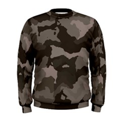 Background For Scrapbooking Or Other Camouflage Patterns Beige And Brown Men s Sweatshirt