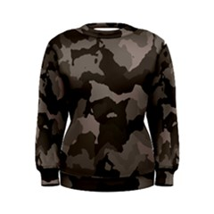 Background For Scrapbooking Or Other Camouflage Patterns Beige And Brown Women s Sweatshirt