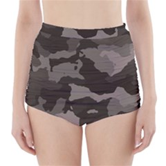 Background For Scrapbooking Or Other Camouflage Patterns Beige And Brown High-Waisted Bikini Bottoms