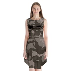 Background For Scrapbooking Or Other Camouflage Patterns Beige And Brown Sleeveless Chiffon Dress