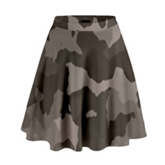 Background For Scrapbooking Or Other Camouflage Patterns Beige And Brown High Waist Skirt