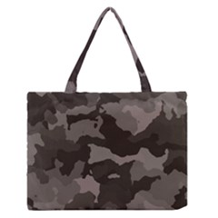 Background For Scrapbooking Or Other Camouflage Patterns Beige And Brown Medium Zipper Tote Bag