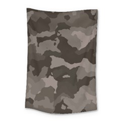 Background For Scrapbooking Or Other Camouflage Patterns Beige And Brown Small Tapestry