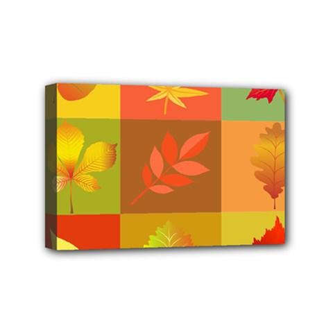 Autumn Leaves Colorful Fall Foliage Mini Canvas 6  x 4