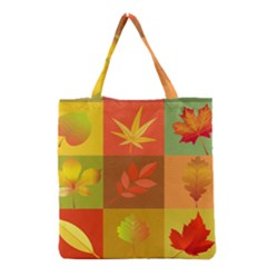 Autumn Leaves Colorful Fall Foliage Grocery Tote Bag