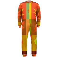 Autumn Leaves Colorful Fall Foliage OnePiece Jumpsuit (Men)