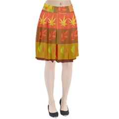 Autumn Leaves Colorful Fall Foliage Pleated Skirt