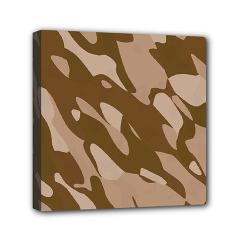 Background For Scrapbooking Or Other Beige And Brown Camouflage Patterns Mini Canvas 6  x 6