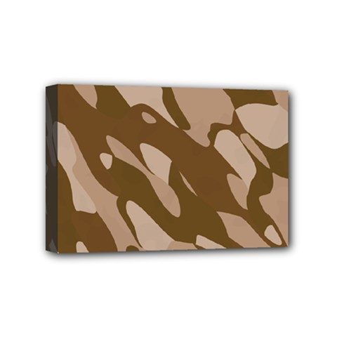 Background For Scrapbooking Or Other Beige And Brown Camouflage Patterns Mini Canvas 6  x 4