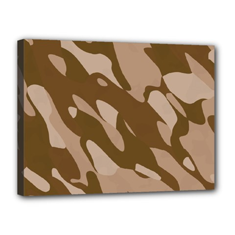 Background For Scrapbooking Or Other Beige And Brown Camouflage Patterns Canvas 16  x 12