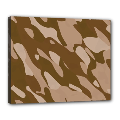 Background For Scrapbooking Or Other Beige And Brown Camouflage Patterns Canvas 20  x 16