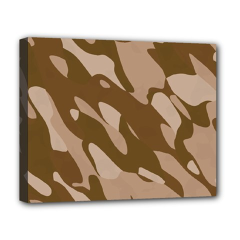Background For Scrapbooking Or Other Beige And Brown Camouflage Patterns Deluxe Canvas 20  x 16