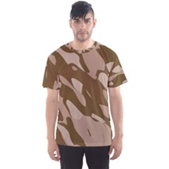 Background For Scrapbooking Or Other Beige And Brown Camouflage Patterns Men s Sport Mesh Tee