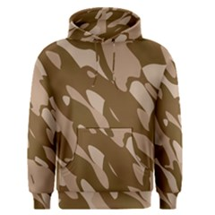 Background For Scrapbooking Or Other Beige And Brown Camouflage Patterns Men s Pullover Hoodie