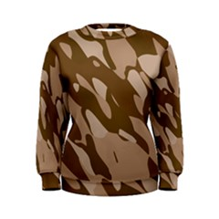 Background For Scrapbooking Or Other Beige And Brown Camouflage Patterns Women s Sweatshirt