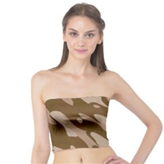 Background For Scrapbooking Or Other Beige And Brown Camouflage Patterns Tube Top