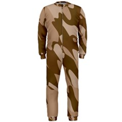 Background For Scrapbooking Or Other Beige And Brown Camouflage Patterns OnePiece Jumpsuit (Men)